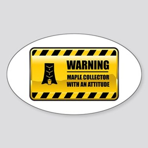 Warning Maple Collector Oval Sticker