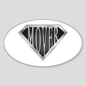 SuperMover(metal) Oval Sticker