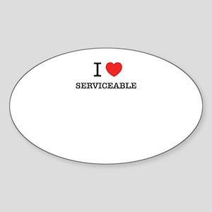 I Love SERVICEABLE Sticker