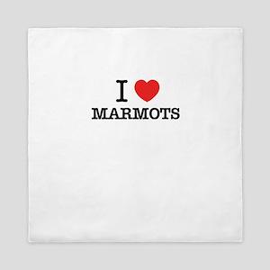 I Love MARMOTS Queen Duvet