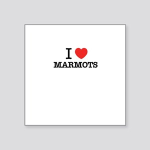 I Love MARMOTS Sticker
