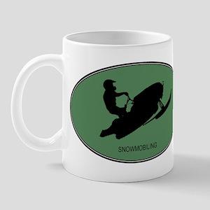 Snowmobiling (euro-green) Mug