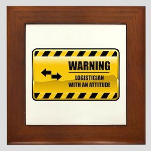 Warning Logistician Framed Tile