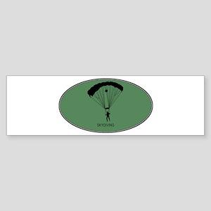 Skydiving (euro-green) Bumper Sticker