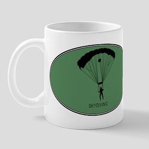 Skydiving (euro-green) Mug