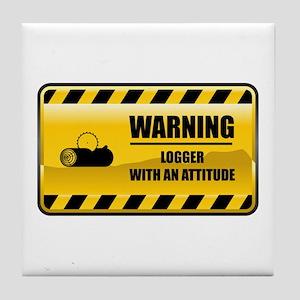 Warning Logger Tile Coaster