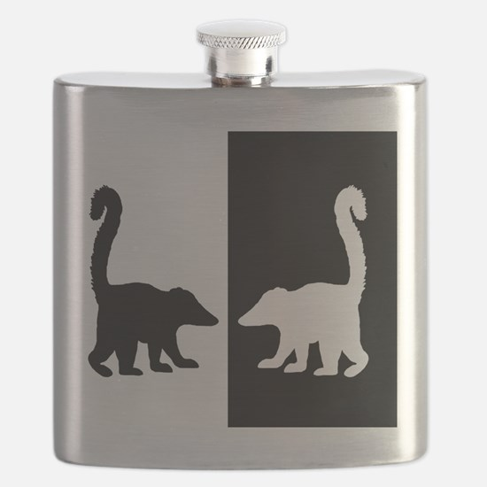 Animal silhouette picture Flask
