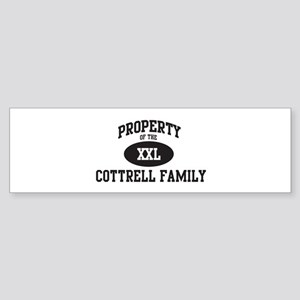 Property of Cottrell Family Bumper Sticker
