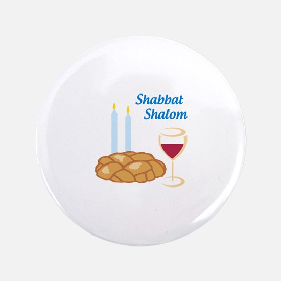Shabbat Shalom Button