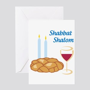 Shabbat Shalom Greeting Cards