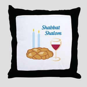 Shabbat Shalom Throw Pillow