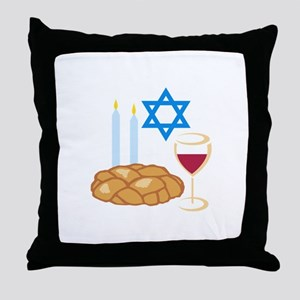 Jewish Shabbot Throw Pillow