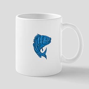 Sheepshead Fish Drawing Mugs