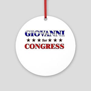 GIOVANNI for congress Ornament (Round)