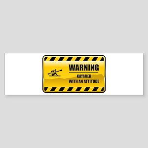 Warning Kayaker Bumper Sticker