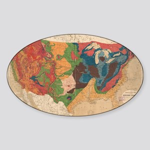 Vintage United States Geological Map (1872 Sticker