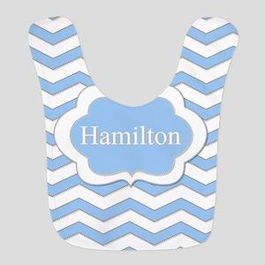 Baby Blue Chevron Polyester Baby Bib