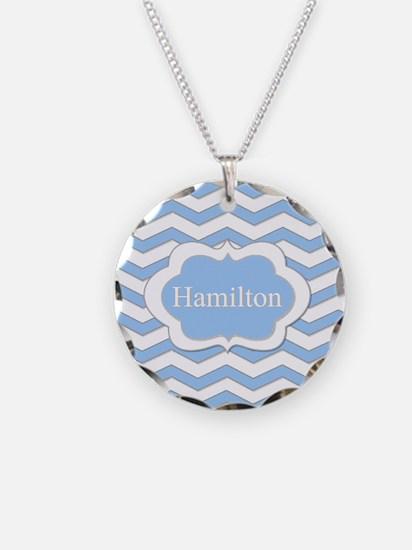 Baby Blue Chevron Necklace