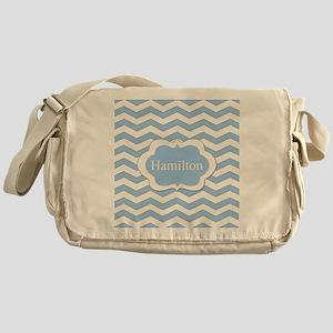 Baby Blue Chevron Messenger Bag