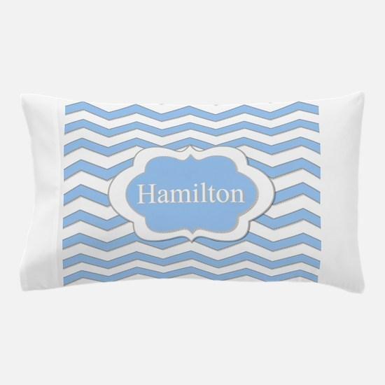 Baby Blue Chevron Pillow Case