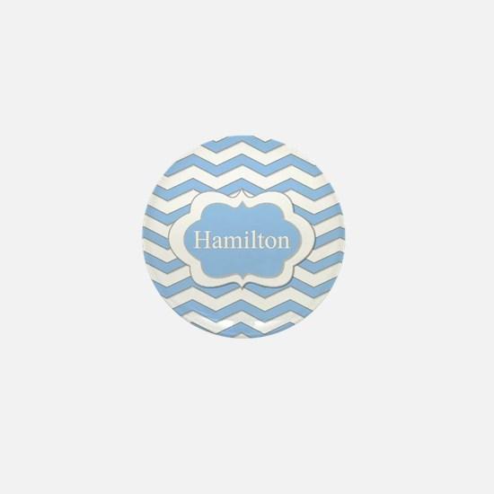 Baby Blue Chevron Mini Button