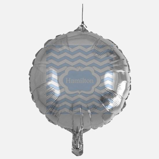 Baby Blue Chevron Balloon