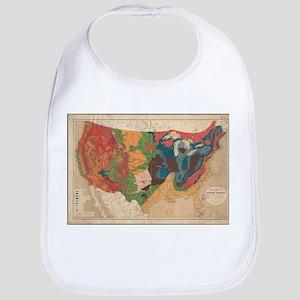 Vintage United States Geological Map (1872) Bib