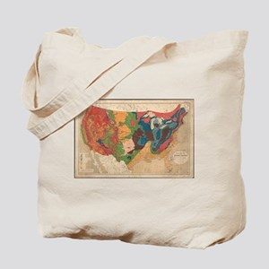 Vintage United States Geological Map (187 Tote Bag