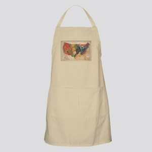 Vintage United States Geological Map (1872) Apron