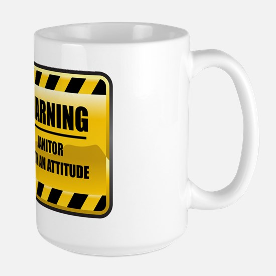 Warning Janitor Large Mug