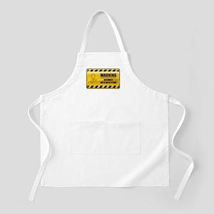 Warning Internist BBQ Apron