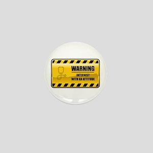 Warning Internist Mini Button
