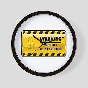 Warning Internist Wall Clock