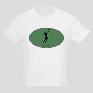Mens Volleyball (euro-green) Kids Light T-Shirt