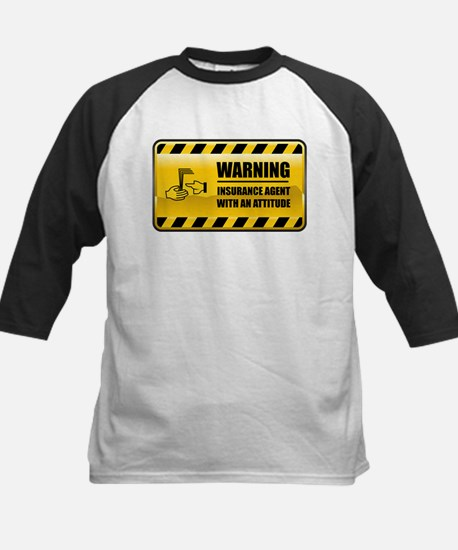 Warning Insurance Agent Kids Baseball Jersey