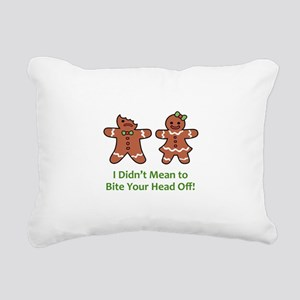 Bite Head Off Rectangular Canvas Pillow