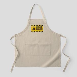 Warning Industrial Engineer BBQ Apron