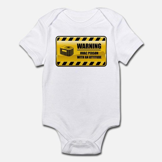 Warning HVAC Person Infant Bodysuit