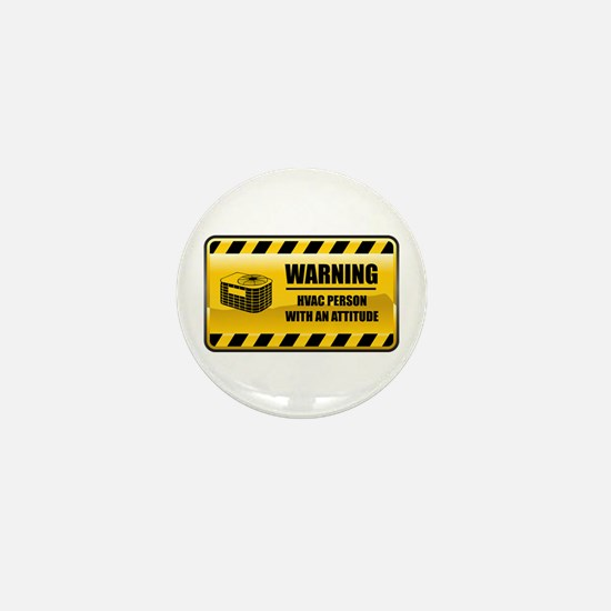 Warning HVAC Person Mini Button