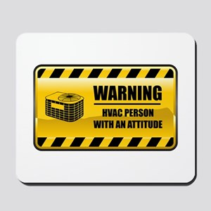 Warning HVAC Person Mousepad