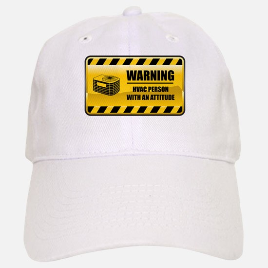 Warning HVAC Person Baseball Baseball Cap