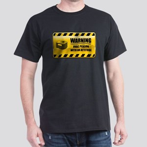 Warning HVAC Person Dark T-Shirt
