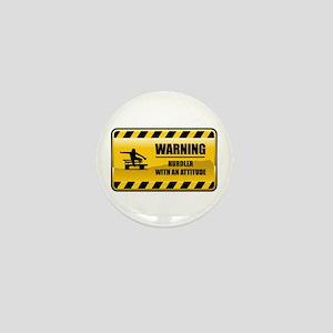 Warning Hurdler Mini Button