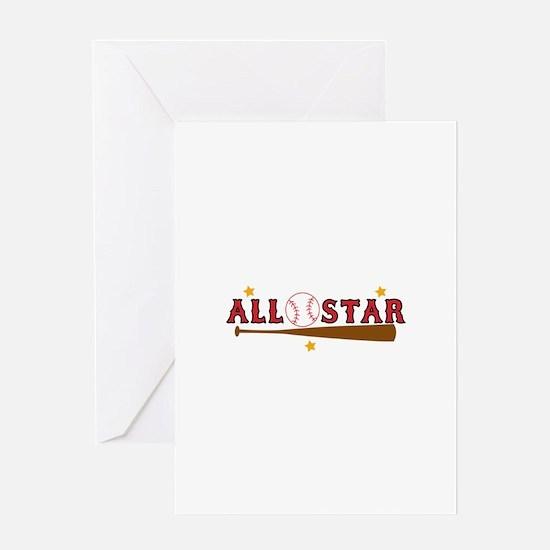 Baseball All Star Greeting Cards