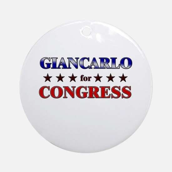 GIANCARLO for congress Ornament (Round)