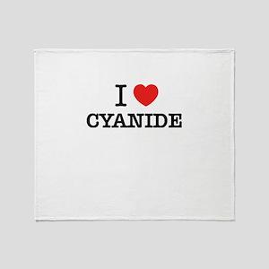 I Love CYANIDE Throw Blanket