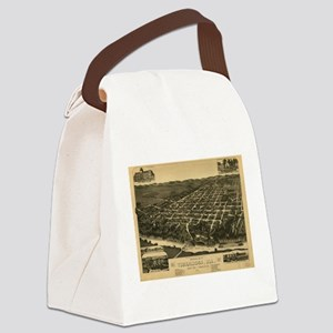 Vintage Pictorial Map of Tuscaloo Canvas Lunch Bag
