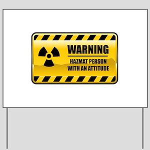 Warning Hazmat Person Yard Sign