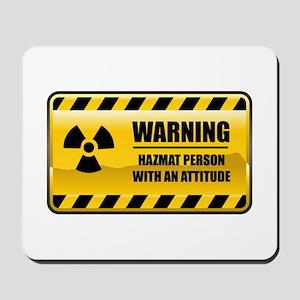 Warning Hazmat Person Mousepad