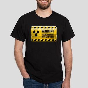 Warning Hazmat Person Dark T-Shirt